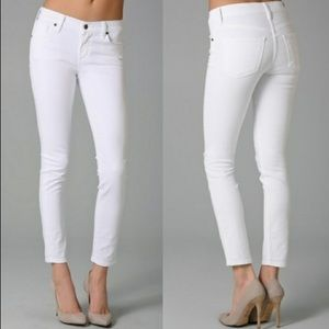 Citizens of Humanity Mid Rise Cropped White Jeans